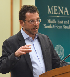 MENA Director Brian Edwards at the Evanston Public Library